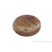 Perle en céramique - ronde en forme de roue - nuance de brun
