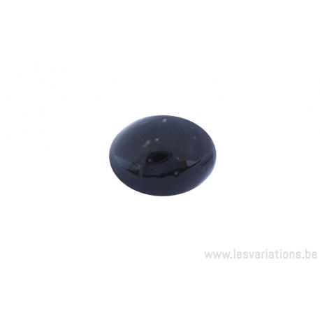 Perle en céramique - ovale - noir