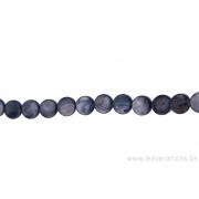 Perle en nacre - ronde en forme de roue - gris