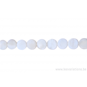 Perle en nacre - ronde en forme de roue - blanc nacré
