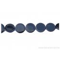 Perle en nacre - ronde en forme de roue - noir