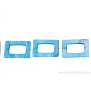 Perle en nacre - rectangulaire - bleu