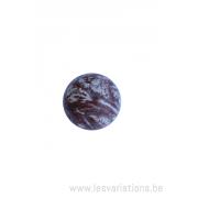 Perle en pierre naturelle - ronde - jaspe- brun