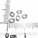 Anneaux fil 1 trou 5mm - en argent 925