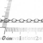 Chaîne Rolo demi ronde ovale 2,8mm - en argent 925 - par 10 cm