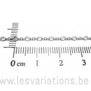 Forçat alternée 2mm - en argent 925 - par 10 cm