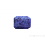 Perle en pierre naturelle - rectangulaire à facettes - mauve