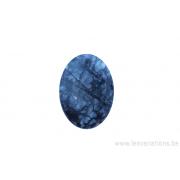 Perle en pierre naturelle obsidienne - ovale - noir