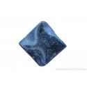 Perle en pierre naturelle obsidienne - carrée - noir