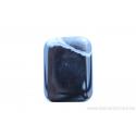 Perle en pierre naturelle Onyx - rectangulaire -brun /noir ligné