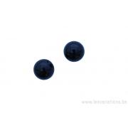 Perle en pierre naturelle Onyx - ronde - noir x 5