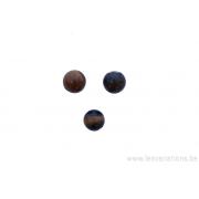 Perle en pierre naturelle œil de tigre - ronde - brun