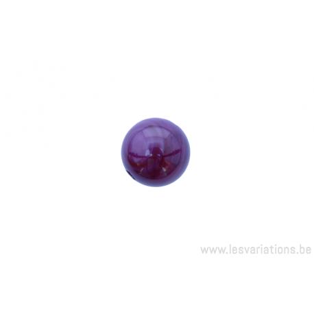 Perle en pierre naturelle Agate - ronde - mauve