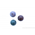 Perle en pierre naturelle Agate - ronde - mauve-- rose - vert
