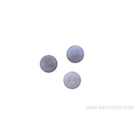 Perle en pierre naturelle Agate -ronde en forme de roue - rose