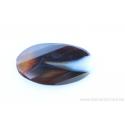 Perle en pierre naturelle - Agate - en forme de feuille - brun /rose