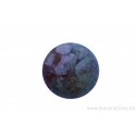 Perle en pierre naturelle - ronde - jaspe- brun / vert