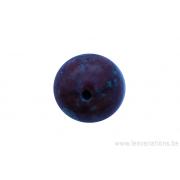 Perle en pierre naturelle - ronde - jaspe- brun /bronze