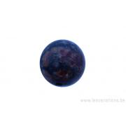 Perle en pierre naturelle - ronde - jaspe- brun / rose