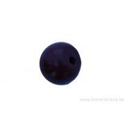 Perle en pierre naturelle - ronde - jaspe- brun x 10