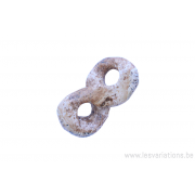 Perle en pierre naturelle - dissymétrique - jaspe - brun