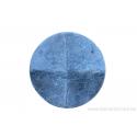 Perle en pierre naturelle - néphrite -ronde forme de roue 4 facette - vert tacheté