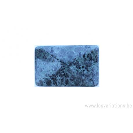 Perle en pierre naturelle - néphrite - rectangulaire - vert tacheté