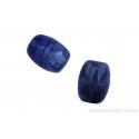 Perle en pierre naturelle - Agate - forme de tonneau coupé - mauve