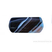 Perle en pierre naturelle - Onyx - rectangulaire - brun / noir ligné