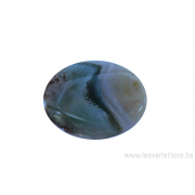 Perle en pierre naturelle - Agate - ovale - vert