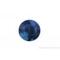 Perle en pierre naturelle - Agate - ronde - bleu nuage de noir
