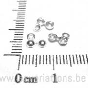 Cache-nœuds 3 mm deux anneaux - en argent 925