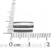 Fermoir aimanté tube 13mm diamètre 4mm - en argent 925