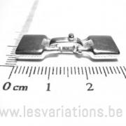 Fermoir pour cordon plat 9,5 X 1,6mm - en argent 925