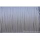 Cordon en daim - 1,4 mm / 3 mm - blanc crème - par mètre