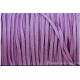 Cordon en daim - 1,4 mm / 3 mm - mauve par 1 mètre