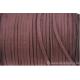 Cordon en daim - 1,4 mm / 3 mm - brun- par 1 mètre