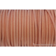Cordon en daim - 1,4 mm / 3 mm - orange - par 1 mètre
