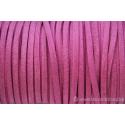Cordon en daim - 1,4 mm / 3 mm - rose - par 1 mètre