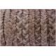 Cordon cuir tressé plat - 5 mm - naturel - par 1 mètre
