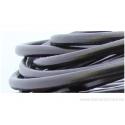 Cordon cuir rond - 5 mm - noir - par 50 cm