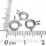 Fermoirs anneaux à ressort 8mm,- en argent 925