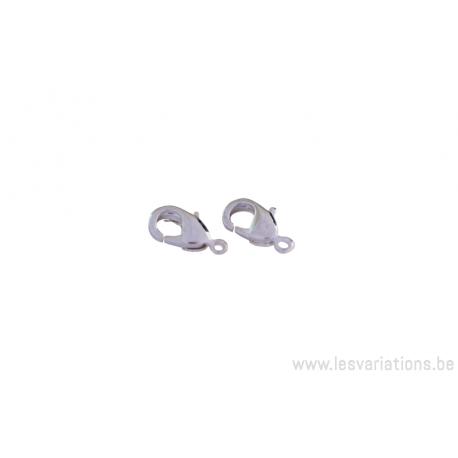 Fermoirs mousquetons - argenté - par 5