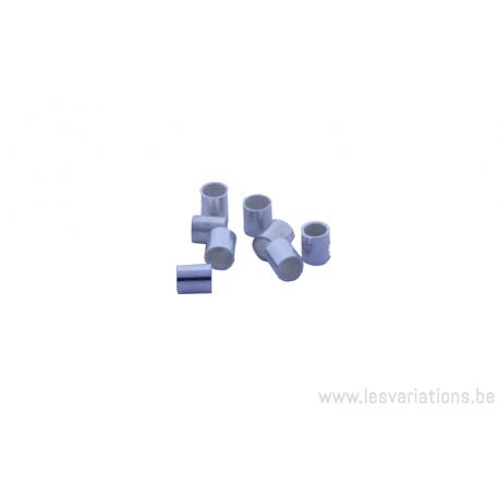 Embouts tube à écraser 2.3 mm / 2.7 mm - en argent 925