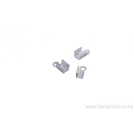 Embouts à serrer pour les cordons en cuirs ou daims 3 mm