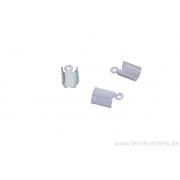 Embouts à serrer pour les cordons en cuir ou daim 4 mm