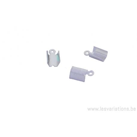 Embouts à serrer pour les cordons en cuirs ou daims 4 mm