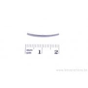 Tube courbé - métal argenté x 50