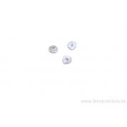Coupole ronde en forme de vague 4mm - métal argenté brossé x10