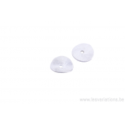 Coupole ronde 9,7 mm - métal argenté brossé x10